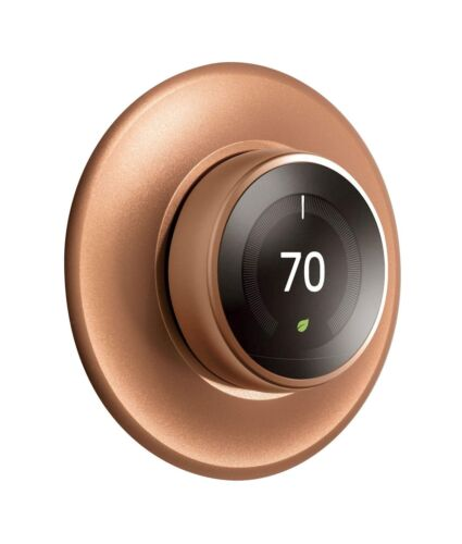POPMAS Copper Wall Plate for Nest Learning Thermostat 3rd 2nd 1st Generation ...