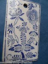 26494 Schneidbrett antik Keramik Zwiebelmuster onions pattern A. H. Annaburg