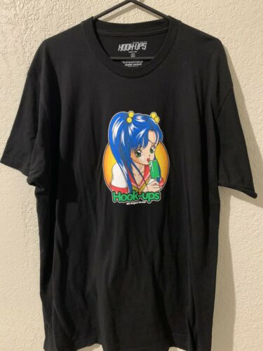 Hook Ups Skateboard Shirt Ice Cream Girl Size XL