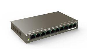 Tenda-TEF1110P-8-102W-10-Port-100Mbps-2-Gigabit-Desktop-Switch-With-8-Port-PoE