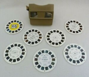 Vintage-Viewmaster-3D-Viewer-Chicago-Office-Tourism-Scenic-America-Winnie-Pooh