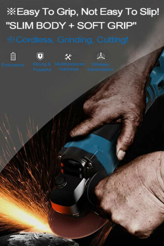 """Cordless Brushless Angle Grinder Lithium-Ion Cutting for Makita 18V 4-1//2 5/"""" LXT"""
