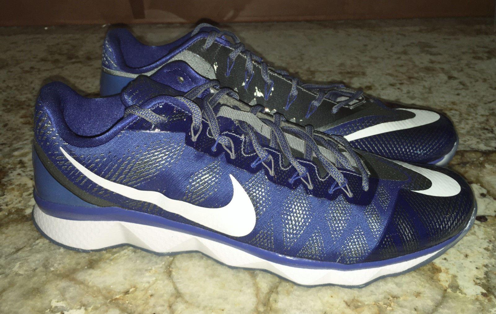 NIKE CJ3 Flyweave Lions Soar bluee Grey Training shoes Sneakers NEW Mens Sz 9.5