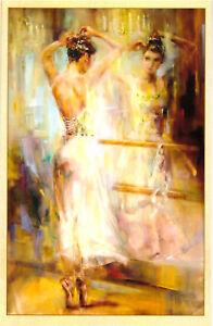 Beautiful-Girl-Lady-ballet-039-modern-new-unposted-postcard-RDG-4