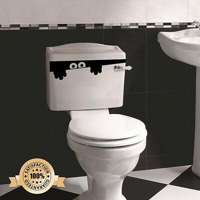Toilet Monster Bathroom Decal Funny vinyl sticker wall art