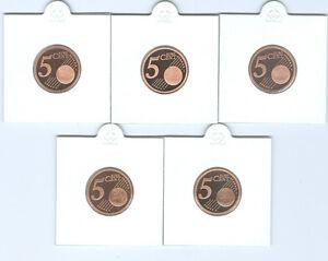 BRD  5 Cent ADFGJ  PP  (Wählen Sie unter: 2002 - 2021)