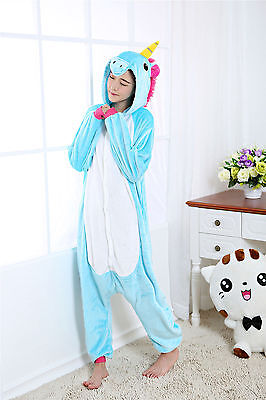 Unicorn Tenma Unisex Sleepwear Kigurumi Pajamas Animal Cosplay Costume Onesie1