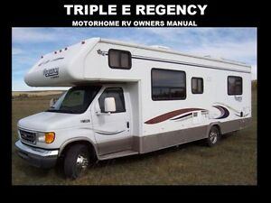 triple e regency motorhome manuals 555pg for sl rv service rh ebay com Motorhome RV Interiors Class A RV