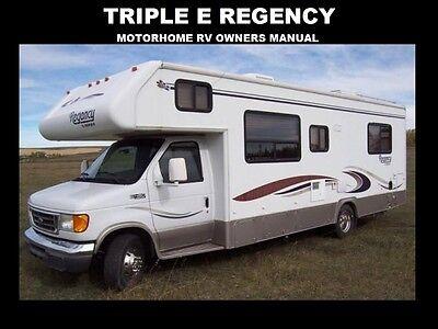 TRIPLE E REGENCY MOTORHOME MANUALs 555pg for SL RV Service Maintenace &  Repair | eBay