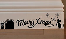 1PCS Mouse Door snow Merry Christmas Car Wall Sticker Decal XMAS Gift Decor
