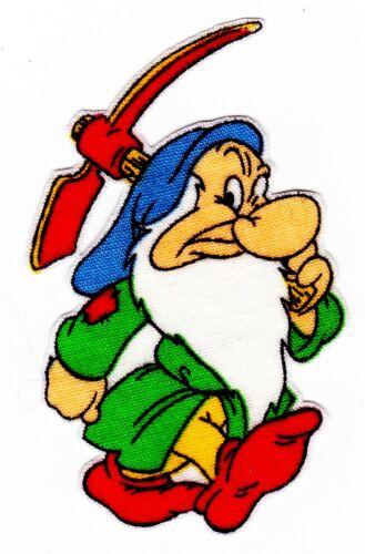 "3/"" Disney snow white 7 seven dwarfs grumpy fabric applique iron on character"