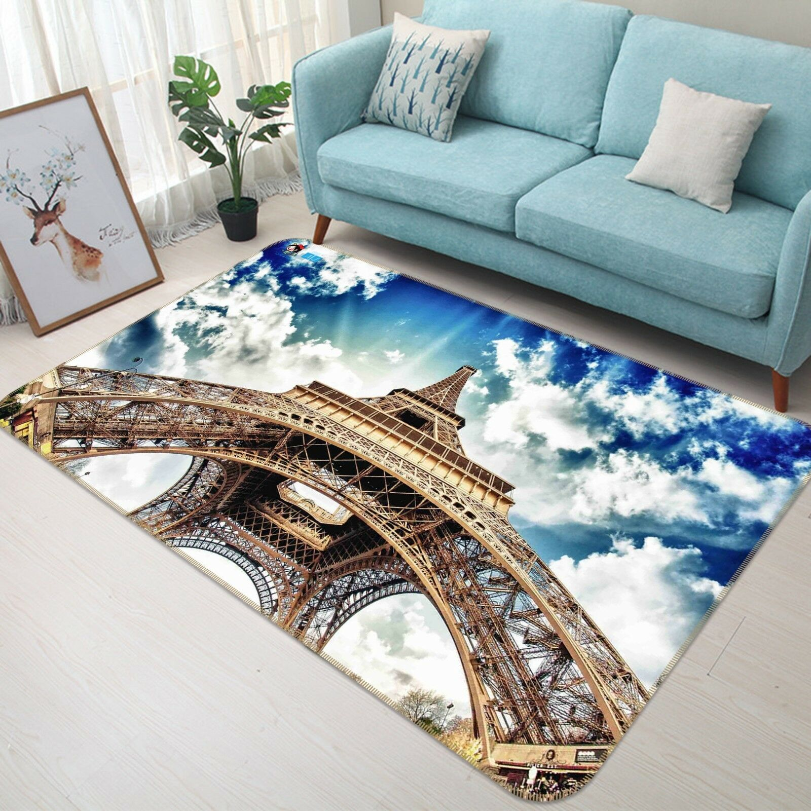 3D Eiffel Tower 566 Non Slip Rug Mat Room Mat Quality Elegant Photo Carpet AU