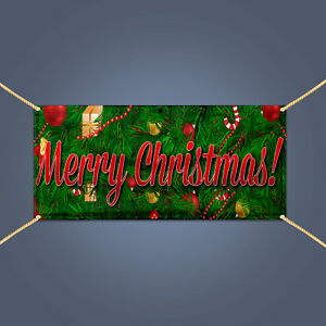 MERRY-CHRISTMAS-Banner-Outdoor-Home-Holiday-Party-Decor-Vinyl-Sign-3-039-X-2-039