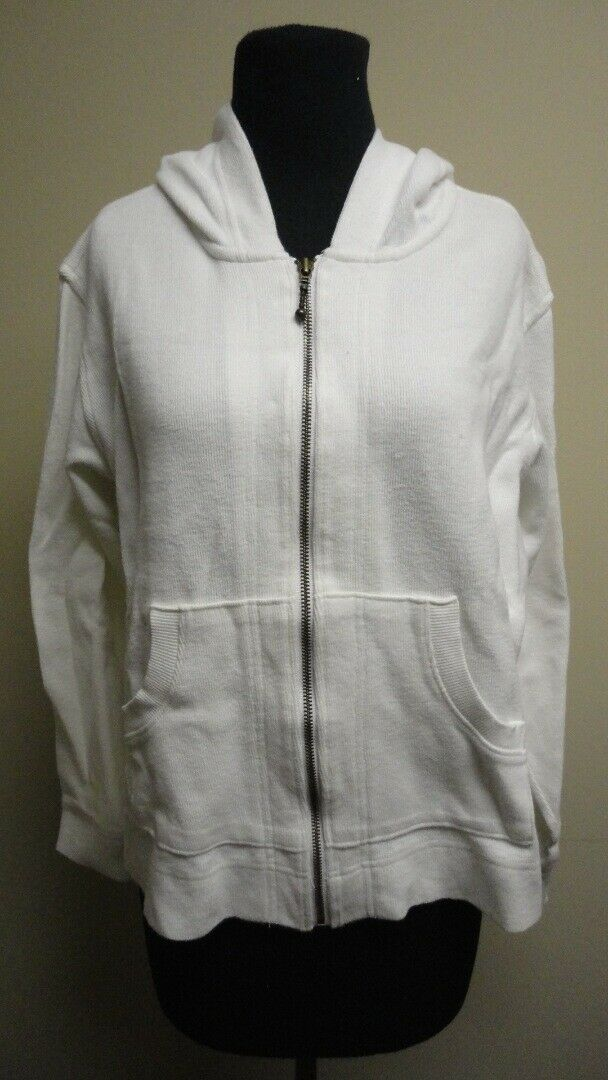 COLUMBIA Weiß Full Zip Hooded Long Sleeves Sweat Shirt NWT Sz L GG6486