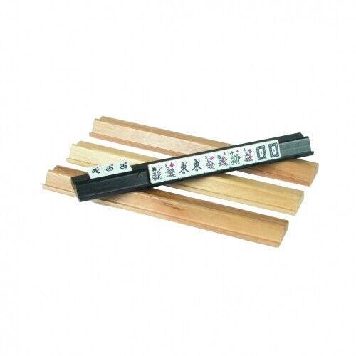 4 Stück Mah-Jongg Leisten aus Holz 39 x 4,5 cm
