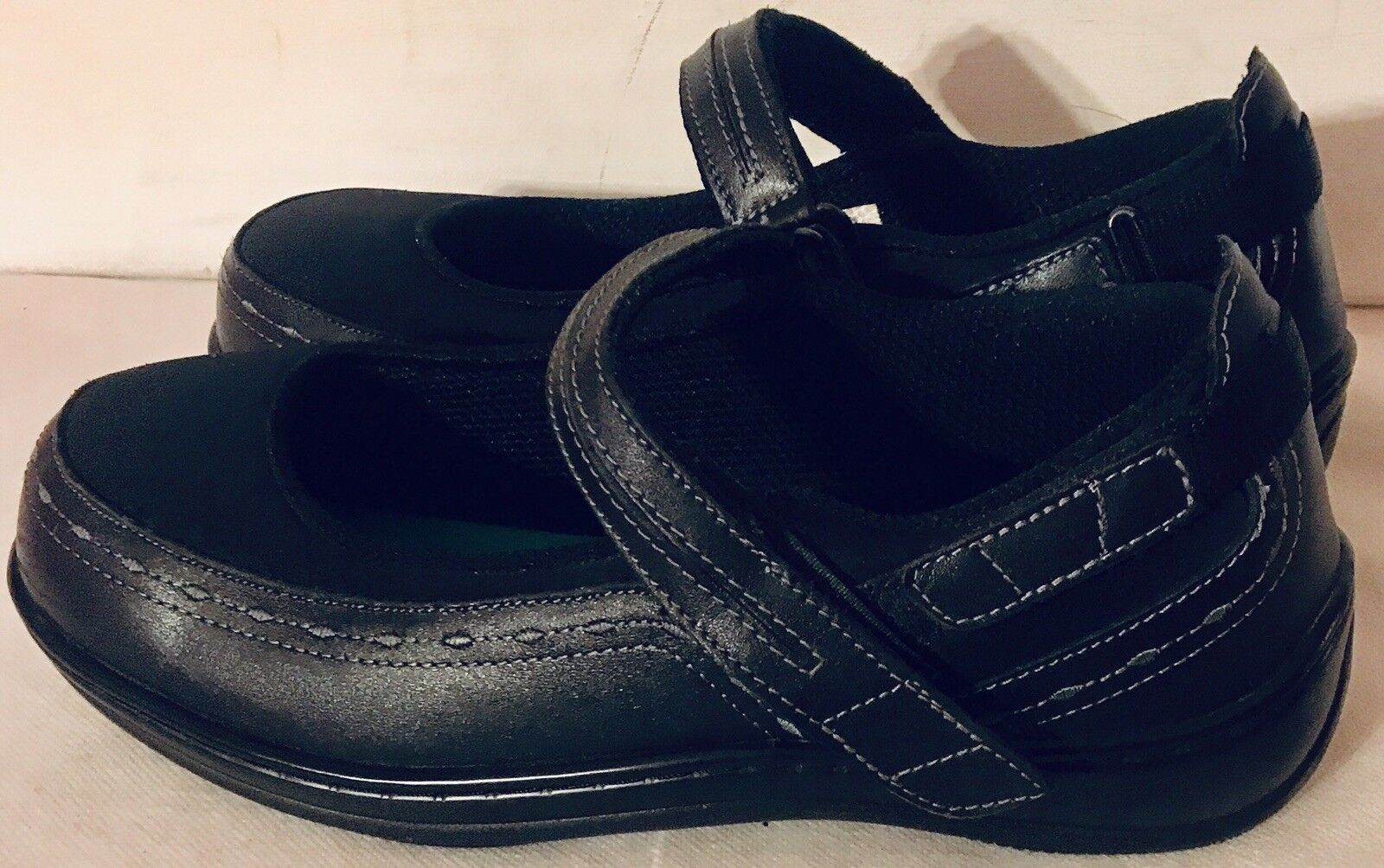 Orthofeet Orthofeet Orthofeet 9.5 D Mujer Negro Cuero Mary Jane diabéticos Comodidad Zapatos usado en excelente estado  ahorrar en el despacho