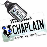 Tennessee Law Enforcement Chaplain Aluminum License Plate / Optional Key