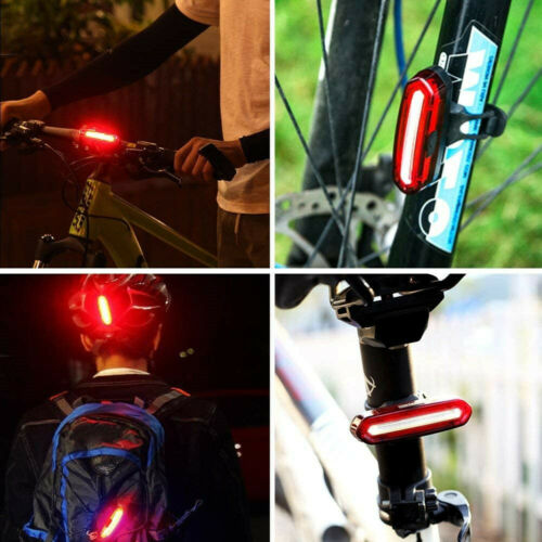 LED Rear Bike Light Rechargeable Bicycle Tail light Cycling Mountain Bike Light