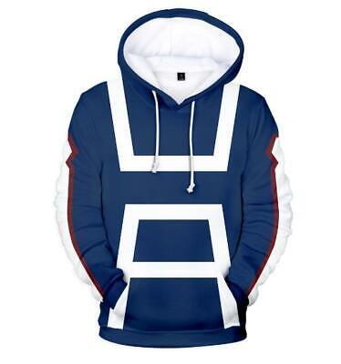 Professioneller Verkauf My Hero Academia Anime Kapuzen Sweatshirt Langarm T-shirt Hoodie Pullover Pulli GroßEr Ausverkauf