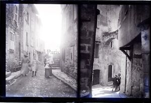 FRANCE-Touet-sur-Var-Beuil-c1900-NEGATIF-2-Photos-sur-la-meme-Plaque-VR7L3n17