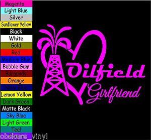 81bf9953 Image is loading OILFIELD-GIRLFRIEND-HEART-VINYL-DECAL-STICKER-CAR-TRUCK-