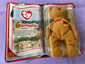 McDonalds Ty Beanie Baby International Bears II GERMANIA