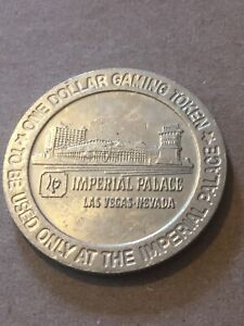 Vintage-Token-Imperial-Palace-1-Dollar-Gaming-Token-Old-Coin-Token-T12