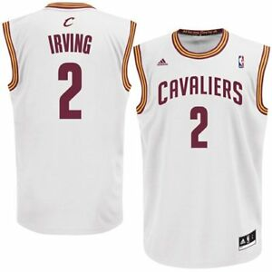cheaper 72f08 35118 Details about $70 NBA adidas Kyrie Irving Cleveland Cavaliers Jersey -  White (X-Large) (1)