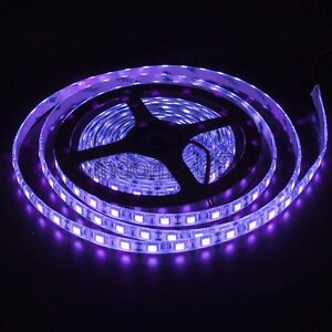 16FT UV Purple SMD 5050 300 LED Flexible Light Strip Lamp Waterproof IP65 DC12V