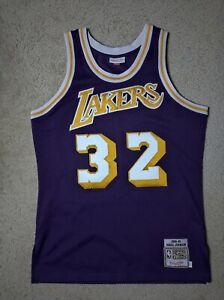M&N Authentic Magic Johnson Los Angeles Lakers Purple 1984-85 ...