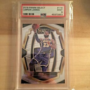 2018-LeBron-James-PSA-9-Panini-Select-Premier-Level-118-MINT-PSA-9-Lakers