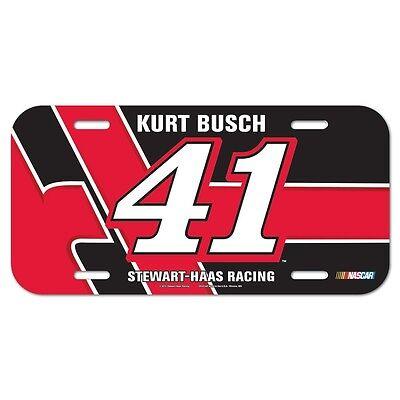 "Racing-nascar Realistic Kurt Busch #41 Haas 6""x12"" License Plate Car Brand New Wincraft"