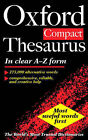 The Oxford Compact Thesaurus by Oxford University Press (Hardback, 1997)