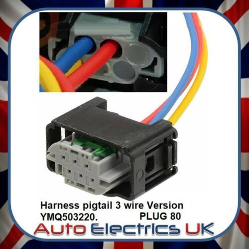 Height Sensor Connector Harness Pigtail 3 Wire Plug For Land Rover Rep.Ymq503220
