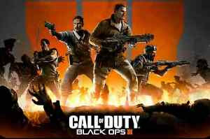 Call Of Duty Black Ops 3 Zombie Poster 3 Size 9 3x11 7 11 7x16 5