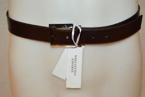 1ed10acd16d04d Details about VERSACE COLLECTION Man s Silver Gold Buckle Belt NEW Size 38  Eur 95 ITALY