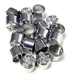 NEW-50-Pack-Chrome-Allen-Skull-Bolt-Covers-3-8-034-for-Motorcycle-Harley-66037
