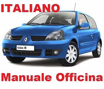 Manuale Officina Riparazione ITALIANO 1998//2005 Renault CLIO II 2 Serie 2°