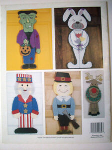 Image is loading Holiday-Door-Characters-plastic-canvas-pattern-Frankenstein -Uncle- & Holiday Door Characters plastic canvas pattern Frankenstein Uncle ...