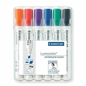 Staedtler-351-B-Wp6-Lumocolor-Whiteboard-Marker-Chisel-Tip-6-Assorted-Colours