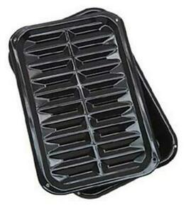Range-Kleen-BP106X-2-PC-Porcelain-Broil-and-Bake-Pan-12-75-Inch-1-Pack-Black