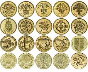 Image Is Loading Rare British 1 Pound One Coins Brilliant