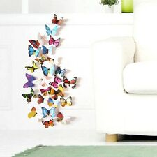 24 Pcs 3D Mariposa Pegatinas de Pared Pegatina De Ventana Pared Pegatina De Nevera