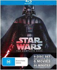 """STAR WARS THE COMPLETE SAGA"" + Bonus Features Blu-ray (9-Disc Set) New & Sealed"