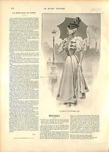 COSTUME ROBE MODE FEMME SEPTEMBRE FRANCE 19 XIX JUILLET 1896 SIÈCLE 1896 - France - ANTIQUE PRINT GRAVURE 100 % DÉPOQUE 1896 PORT GRATUIT EUROPE A PARTIR DE 4 OBJETS BUY 4 ITEMS AND EUROPE SHIPPING IS FREE Il s'agit d'un fragment de page originale avec texte au dos qui n'a rien avoir avec l image, il ne s'agit pas d'une reprodu - France