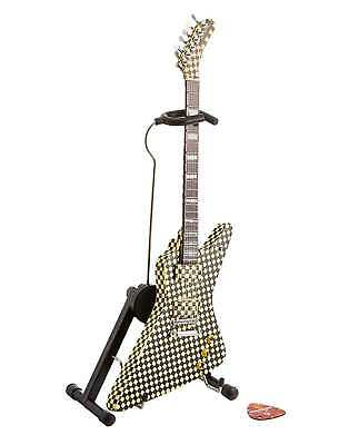 Rick Nielsen Checkered Explorer Mini Guitar Replica Cheap Trick