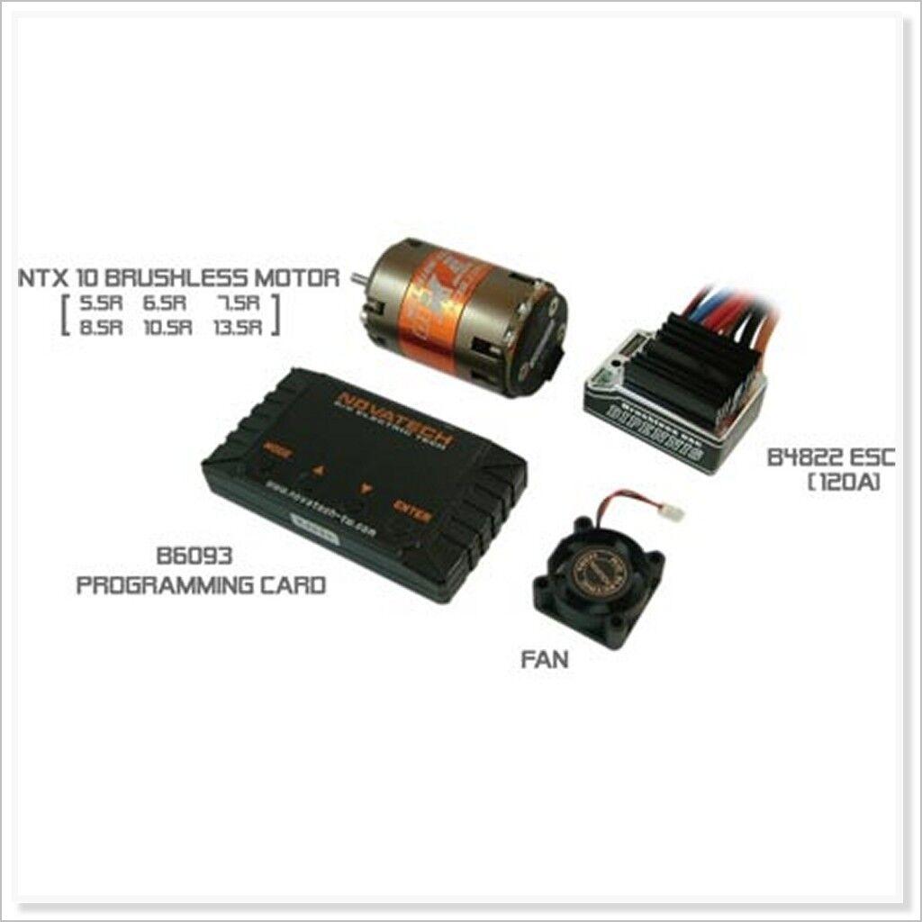120A Brushless ESC + 3500KV 10.5T Motor+Card  PW-720M-100 (RC-WillPower)Novatech