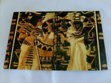 Ancient Egyptian: Treasures Tutankhamun Unposted Card Painted Wood & Ivory Chest