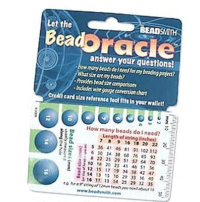 1 Oracle Wallet Beading Reference Card  ~ Bead Charts & Sizes