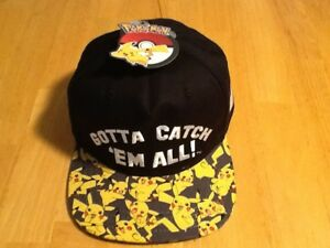 515e02eb832 Image is loading Pokemon-Pikachu-Boys-Baseball-Cap-Bioworld-NEW